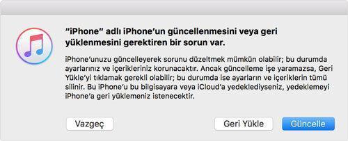iOS 12 Betadan Çıkma: (Yedek Alanlar İçin)