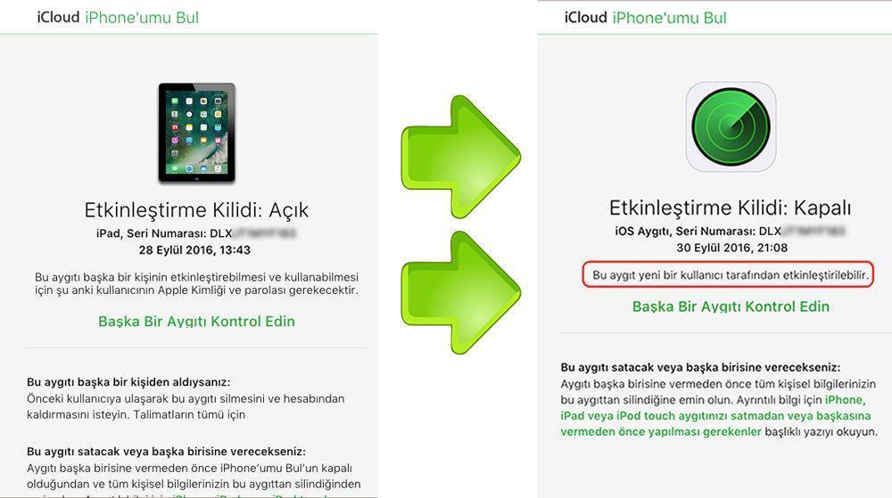 iPad / iPod iCloud Bilgileri Sıfırlama | GEVEY biz